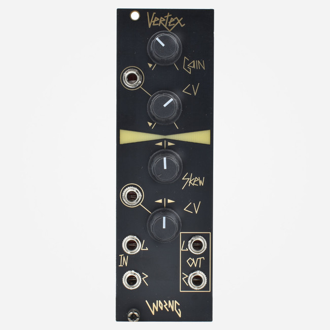 Worng Electronics VERTEX Eurorack Stereo VCA and Panner (Black Panel)