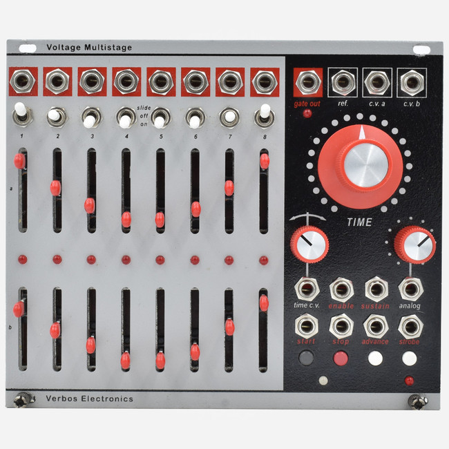 Used Verbos Voltage Multistage Eurorack Dual 8 Step Sequencer and Function Generator Module