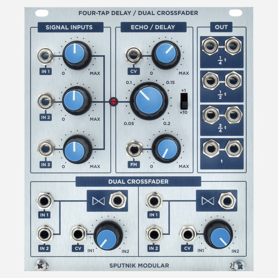 Four-Tap Delay / Dual Crossfader