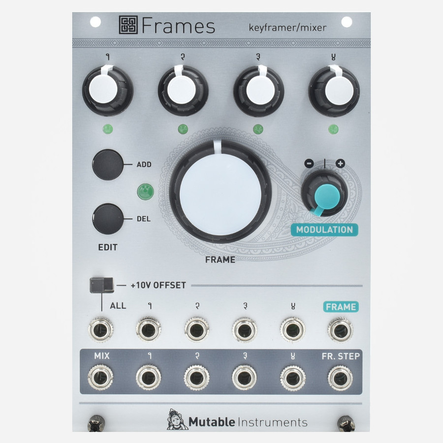 Mutable Instruments Frames Morphing Mixer Keyframing Eurorack Mixer Sequencer and Preset Manager Module