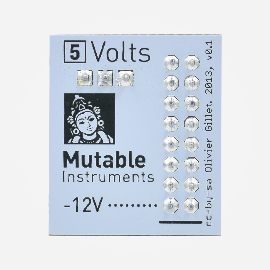Mutable Instruments Volts Eurorack 5V Power Converter Front