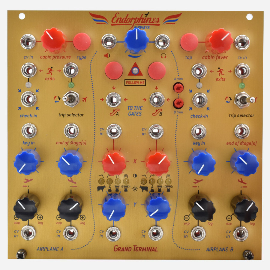 Endorphin.es GRAND TERMINAL Eurorack dual VCF/LPG Envelopes Effects and Output Module