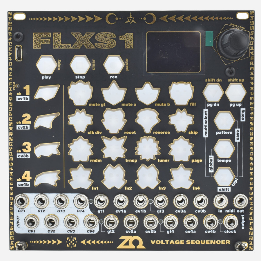 ZetaOhm FLXS1 Advanced Four-track Eurorack Sequencer Module