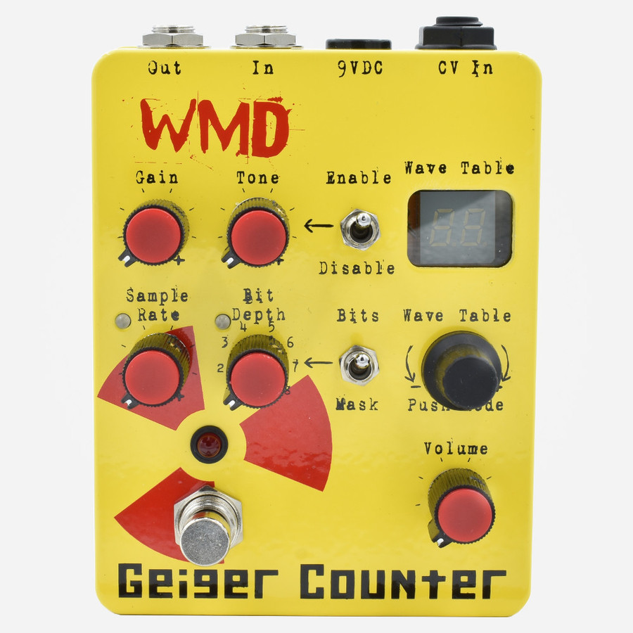 WMD Geiger Counter Transfer Function Wavetable Distortion Module