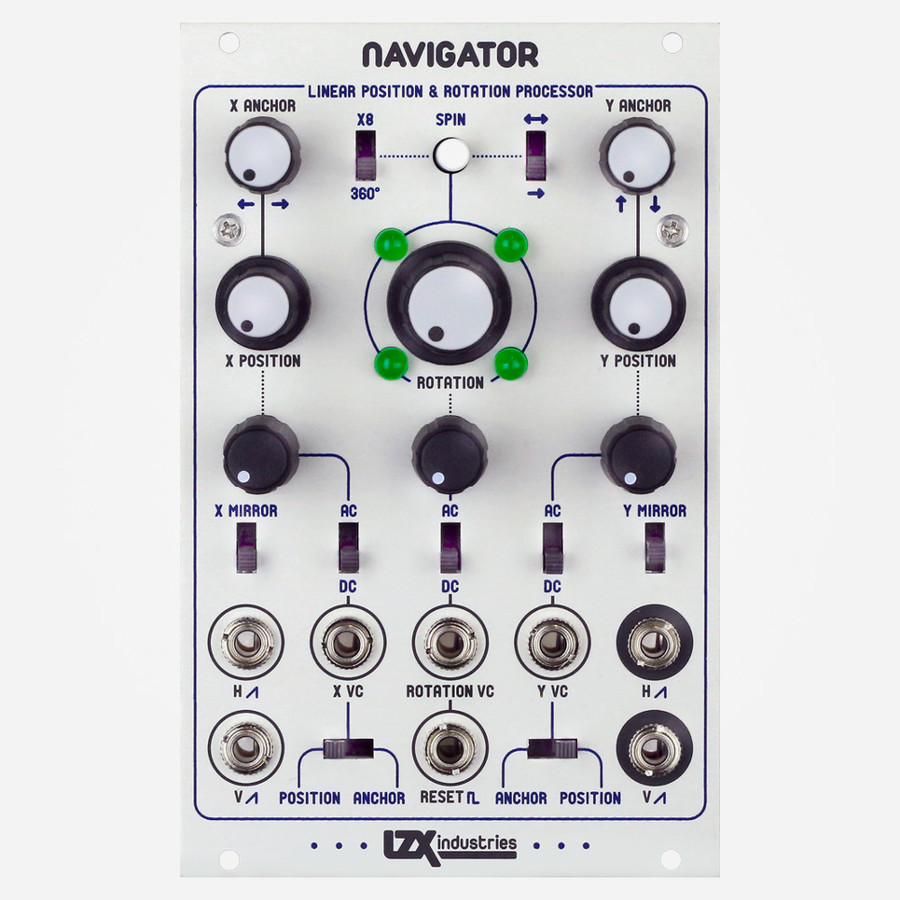 LZX Industries NAVAGATOR Ramp Rotator and Complex Modulation for Eurorack Modular Video Synthesis