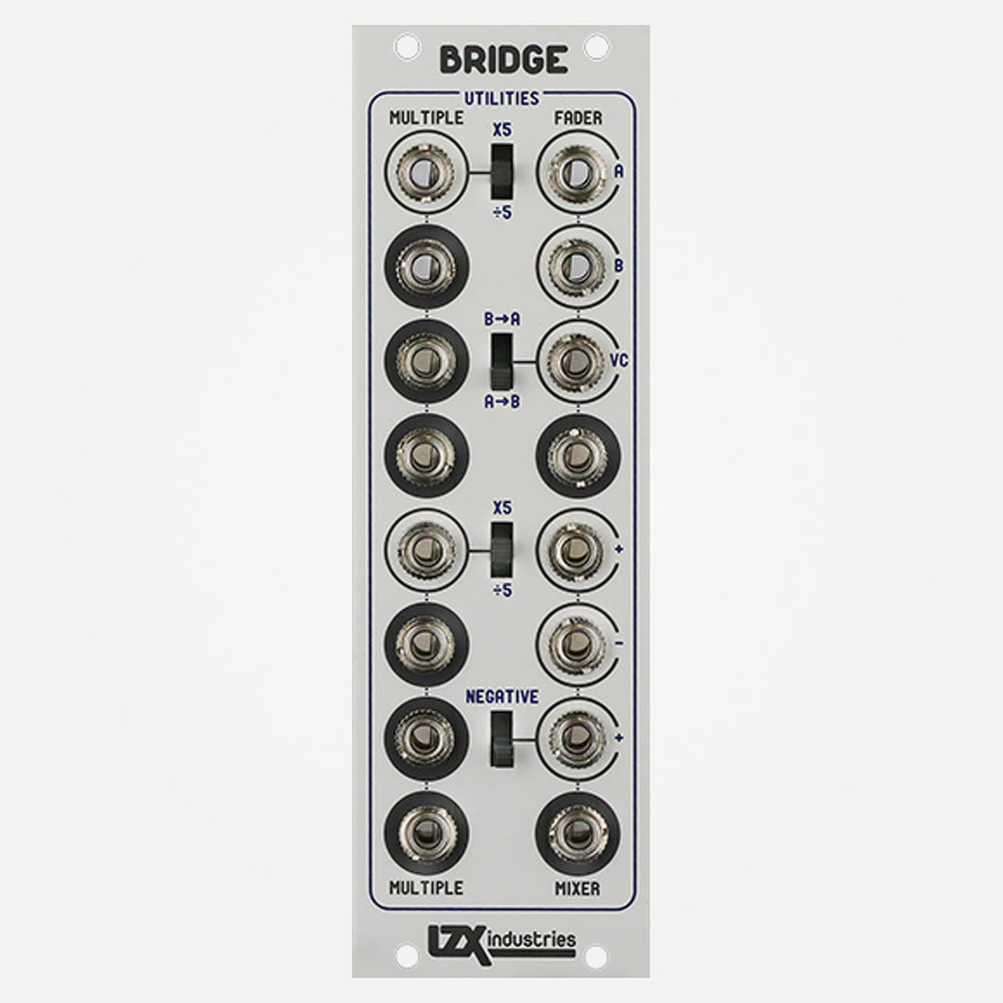 LZX Industries BRIDGE Eurorack Format Converter for Video Synthesis, Buffered Multiple, Video Crossfader and Mixer Utility for Modular Video Synthesis