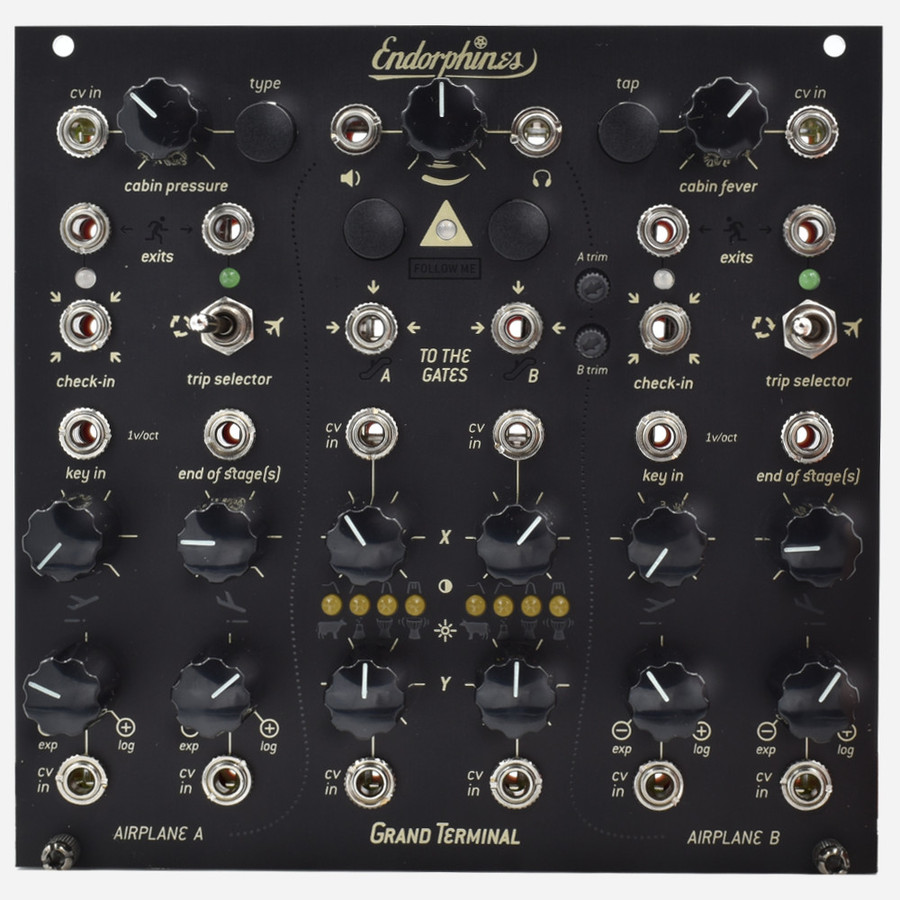 Endorphin.es GRAND TERMINAL Eurorack Dual Function Generator, VCF and LPG, Stereo Multieffect and Output Module