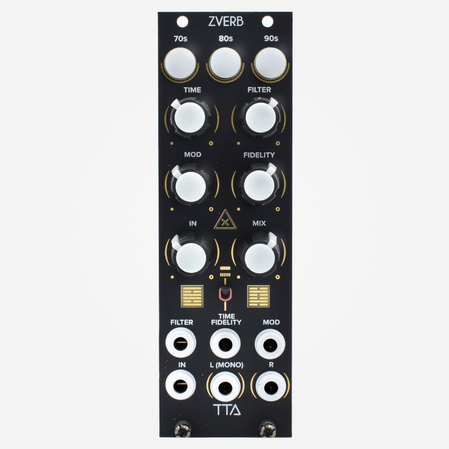 Tip Top Audio ZVERBS (Black) Eurorack Compact Digital Reverb Module