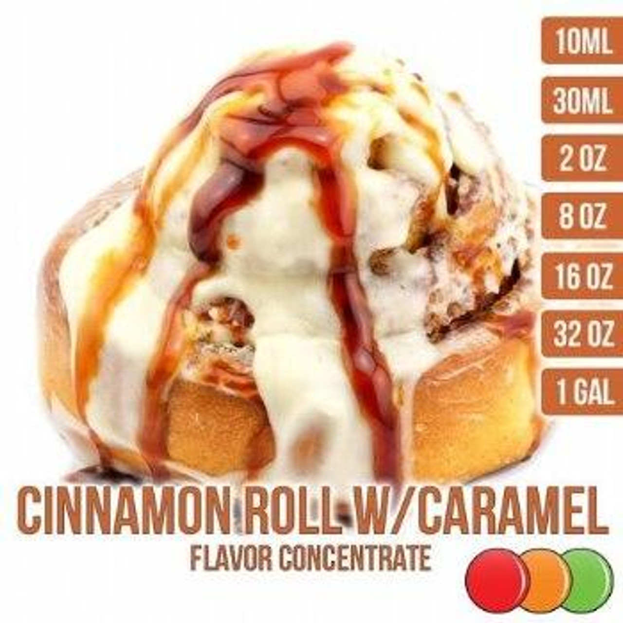 One On One Flavours CINNAMON ROLL WITH CARAMEL OOO