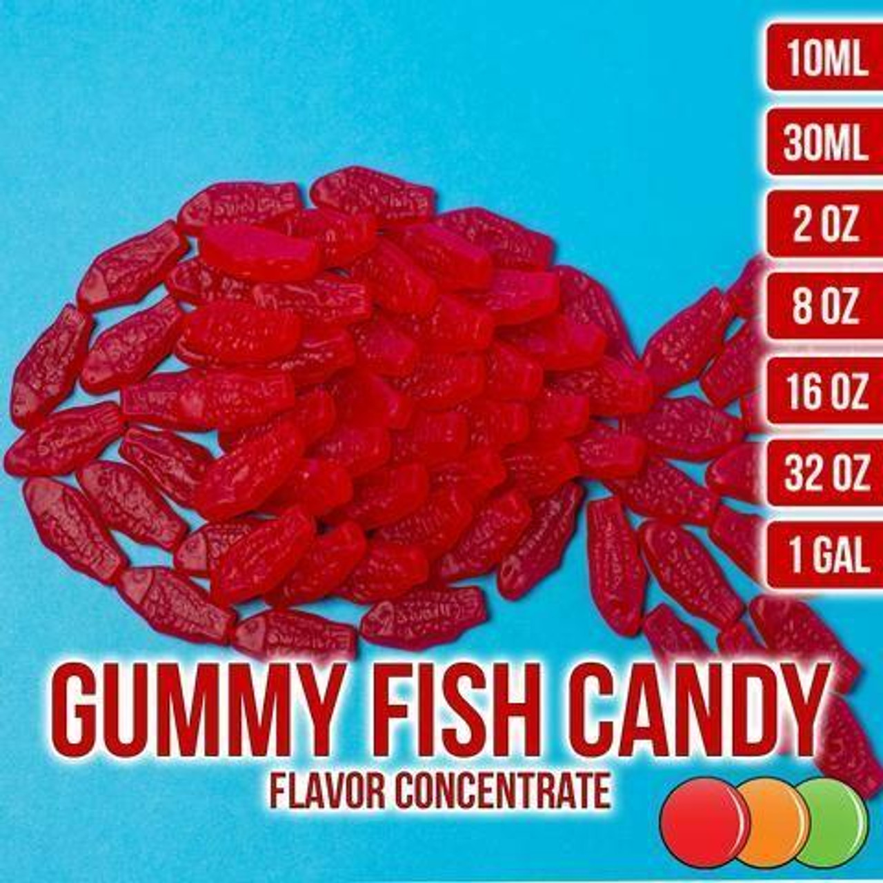 One On One Flavours GUMMY FISH CANDY OOO