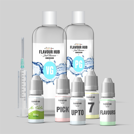 E juice Mixing Kit with full instructions read our blog