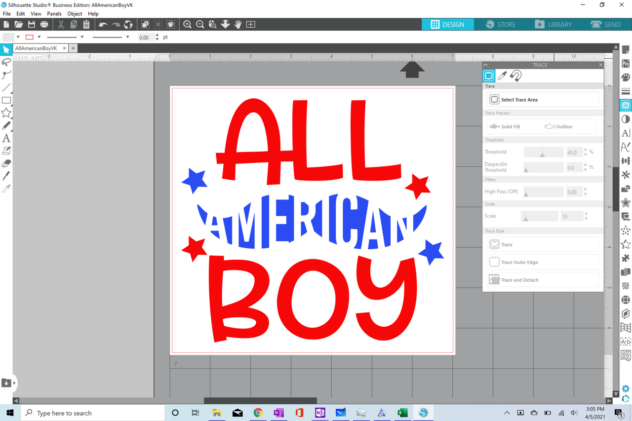 Silhouette Cameo Tracing Class