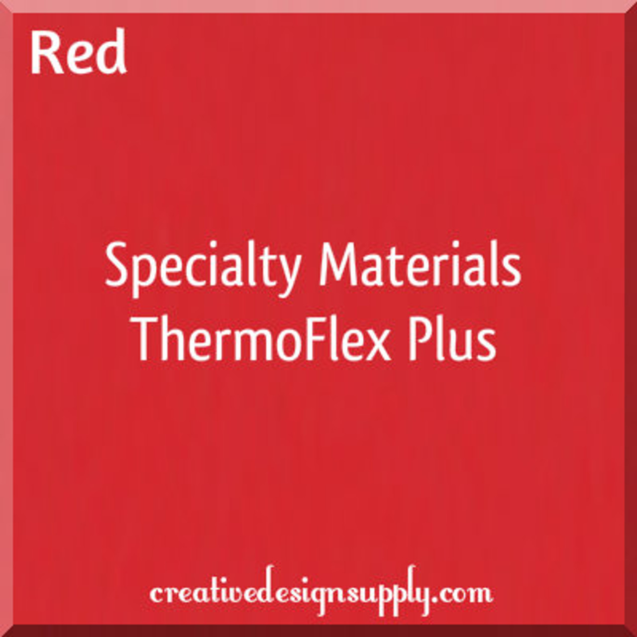 "Thermo Flex Plus HTV Vinyl RED 15/"" X 10 YARDS"