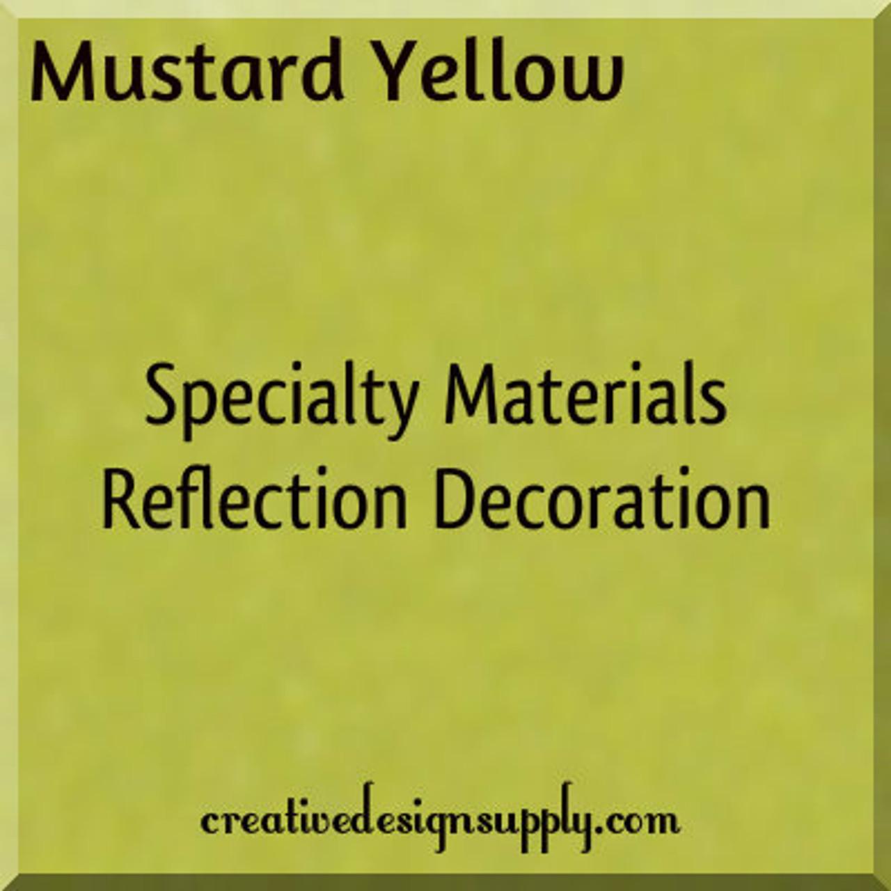 "Mustard Yellow Reflection Decoration 20"""