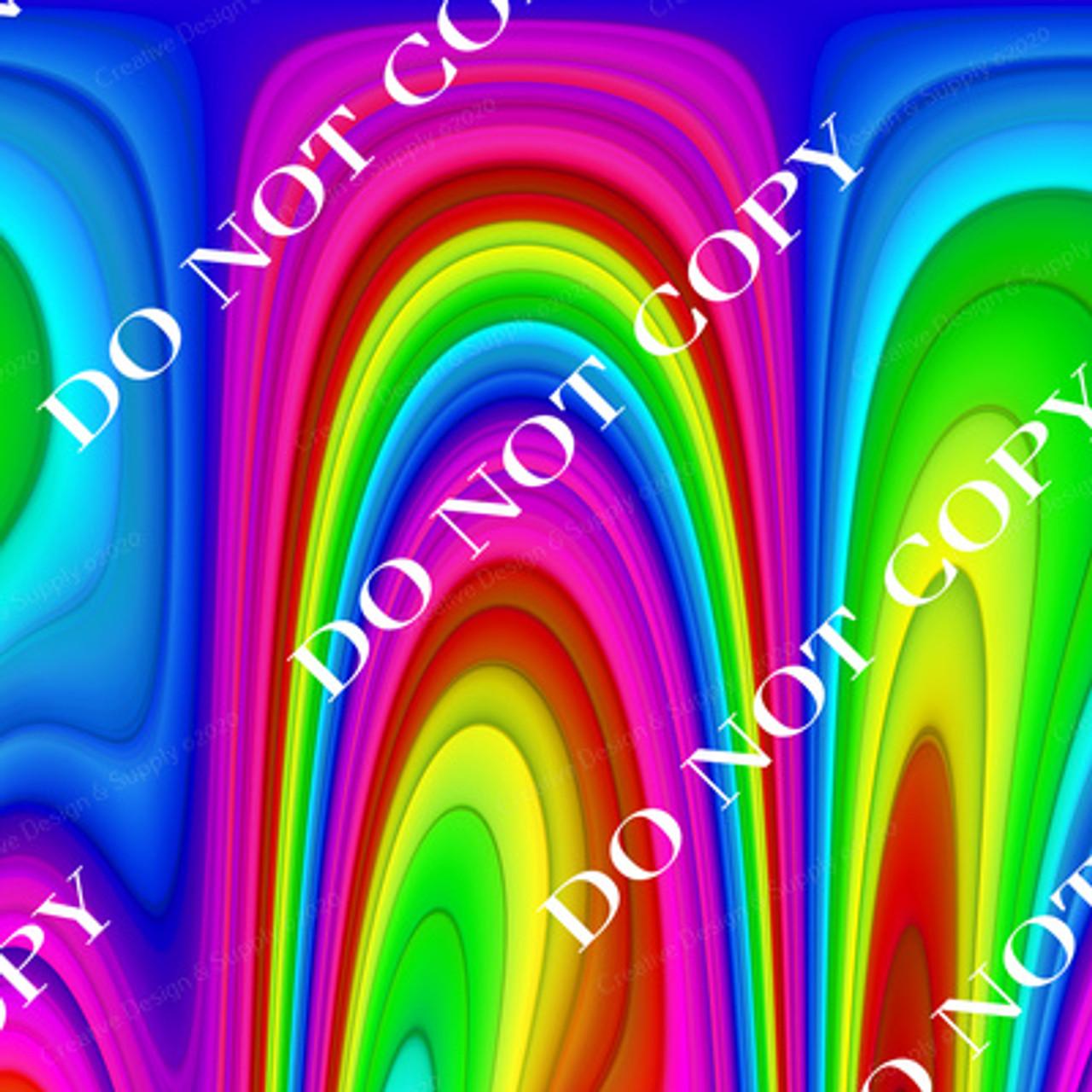 CDS Custom Printed Vinyl | Psychedelic Rainbow 1