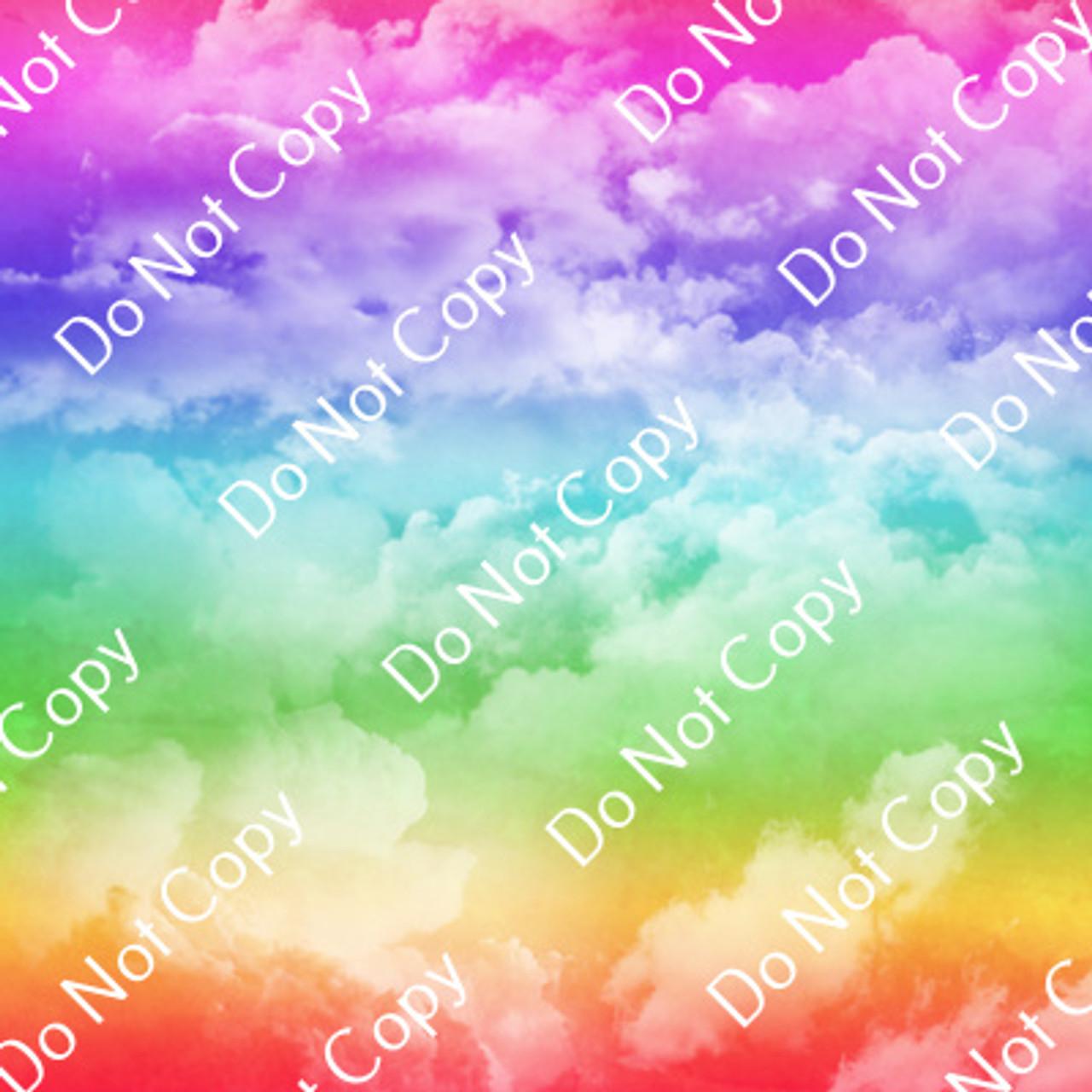CDS Custom Printed Vinyl   Colorful Rainbows 5
