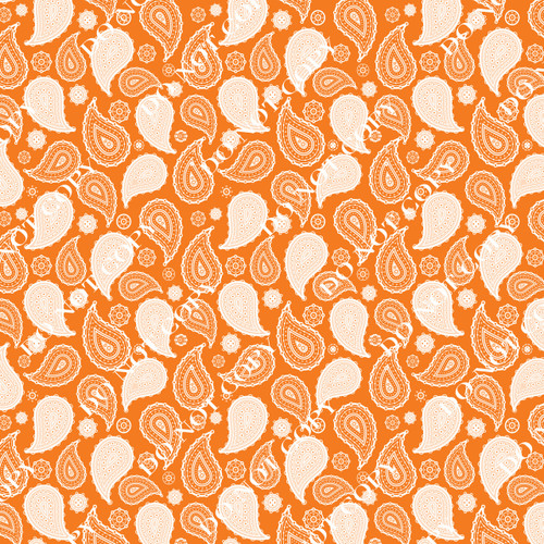 PTO Orange Paisley 1