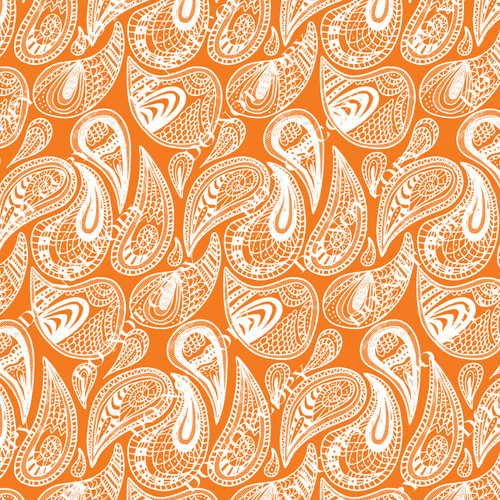 PTO Orange Paisley 3