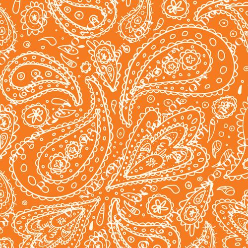 PTO Orange Paisley 4