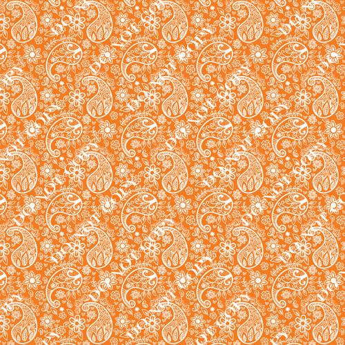 PTO Orange Paisley 5