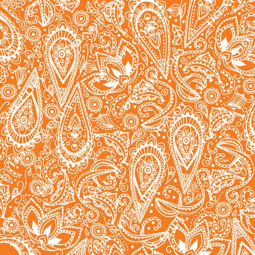 PTO Orange Paisley 9