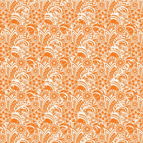 PTO Orange Paisley 10