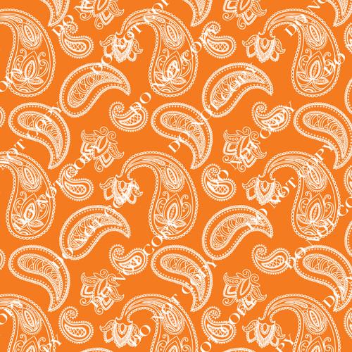 PTO Orange Paisley 11