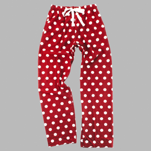 Red/White Polka-Dot Lounge Pants