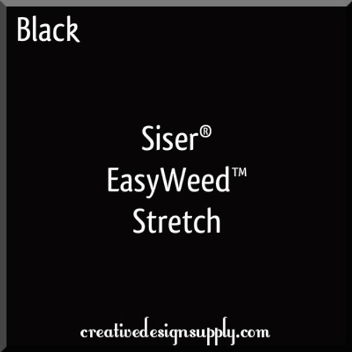 Siser® EasyWeed® Stretch Heat Transfer Vinyl Black