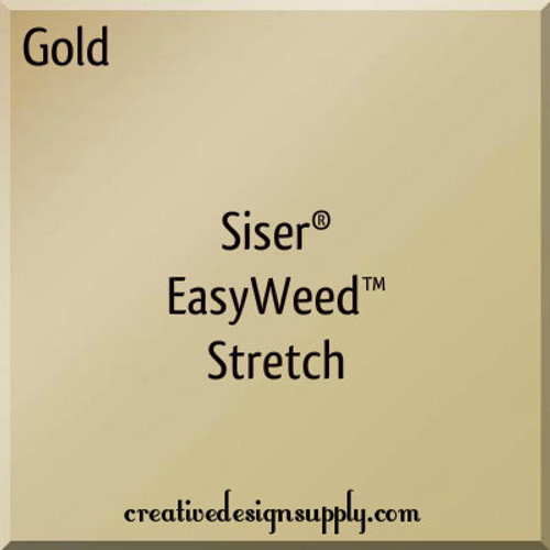 Siser® EasyWeed® Stretch Heat Transfer Vinyl Gold