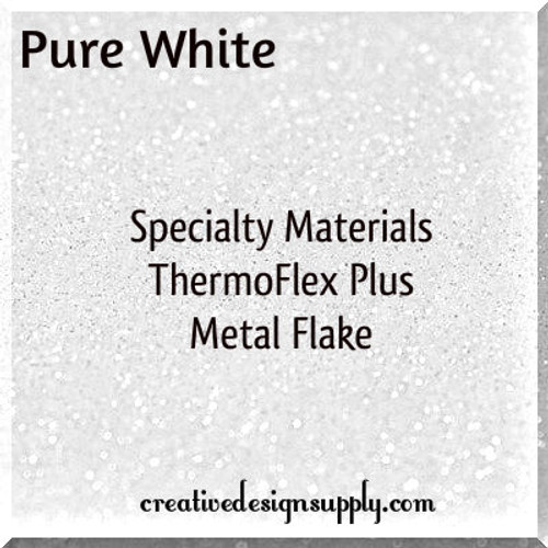 ThermoFlex® Plus Metal Flake Pure White