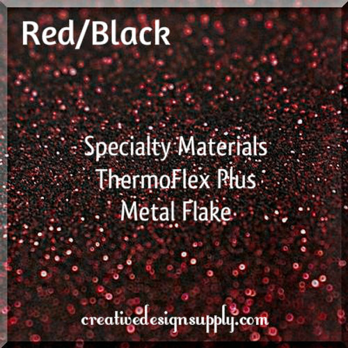 ThermoFlex® Plus Metal Flake Red/Black