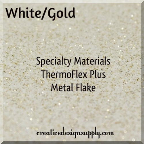 ThermoFlex® Plus Metal Flake White Gold