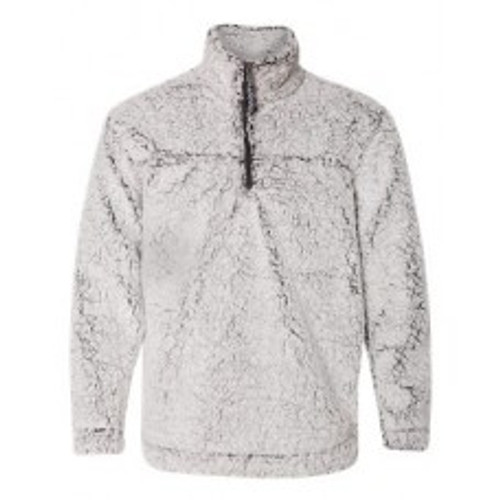 Frosty Grey Sherpa Quarter Zip Pullover