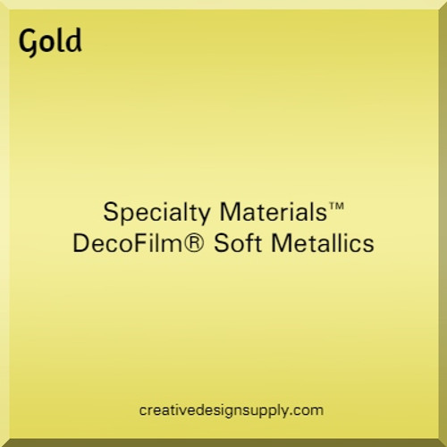 DecoFilm® Soft Metallics Gold