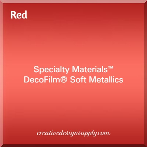 DecoFilm® Soft Metallics Red
