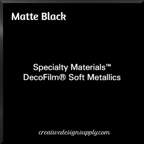 DecoFilm® Soft Metallics Matte Black