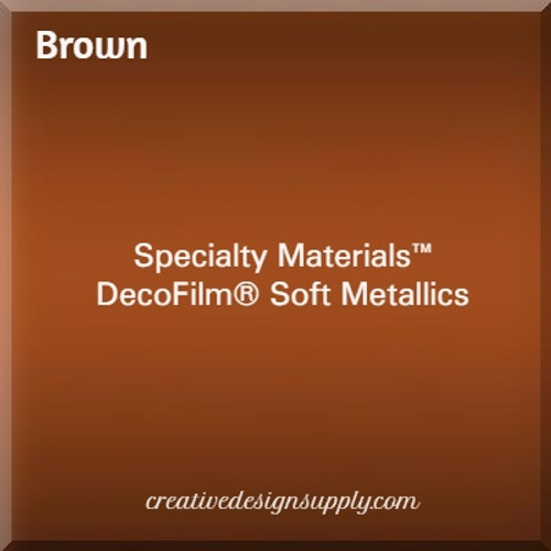 DecoFilm® Soft Metallics Brown