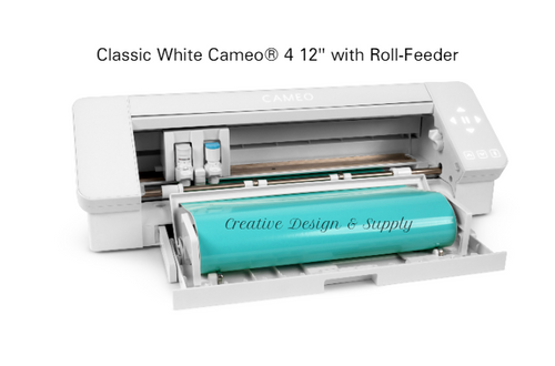 "Classic White Cameo® 4 12"" With Roll-Feeder"