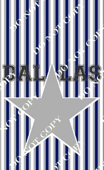 Dallas 1 Pro Football CDS Custom Printed Garden Flag