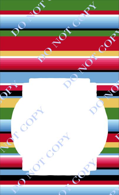 Serape 3 Custom Printed Garden Flag
