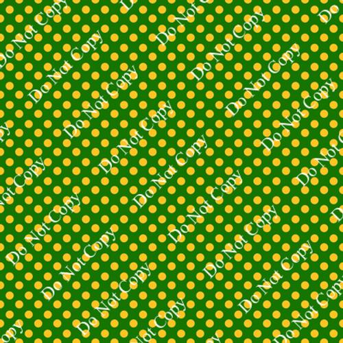 Go Pack Go Gold Polka Dot Green