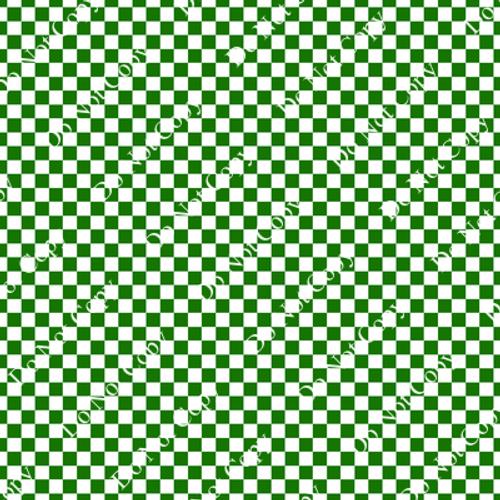 Go Pack Go Green, White, Squares