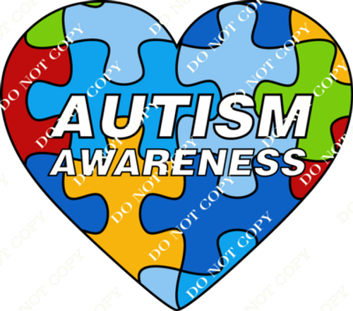 CDS Print n Cut Ready to Apply Autism Awareness 2