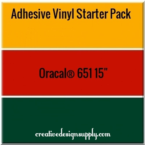 "Oracal® 651 - 15"" Adhesive Vinyl Starter Pack"
