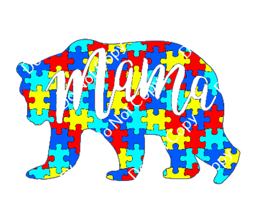 CDS Print n Cut Ready to Apply   Autism Awareness 8