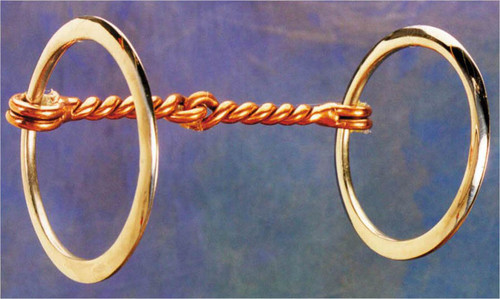 """A great little ring snaffle. 5"""" mouth and 2 1/4"""" rings. Designed for training or to be used on well broke horses."""