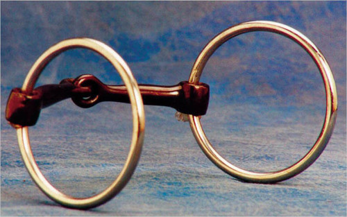"3"" rings and 5"" thin sweet iron twisted wire mouth. This 5"" thin twisted wire mouth bit is designed to apply more pressure to the lips and give increased control. This is a bit that works well on horses that are running through a regular snaffle or as a tune up bit on older horses."
