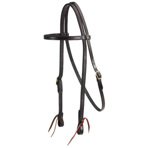 Made of strong, extra quality bridle leather. Double and stitched for extra strength and durability. Matching reins are available.
