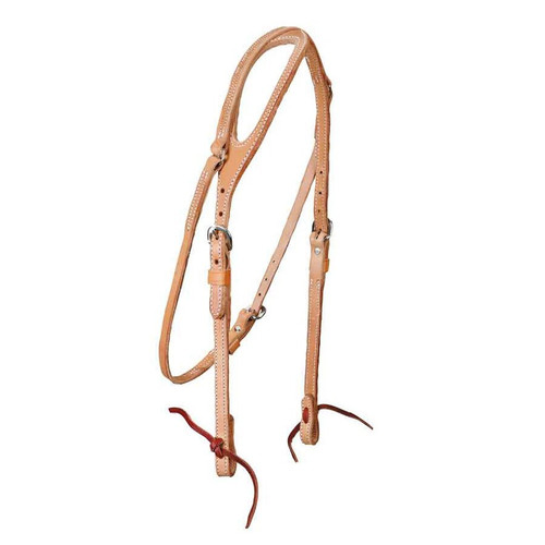 Made of high quality heavy harness leather. Double and stitched for strength and durability. Nickel plated hardware and laced bit ends.